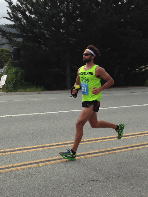 Closing in on the finish line - at Big Sur Marathon.  Great shot Allison!