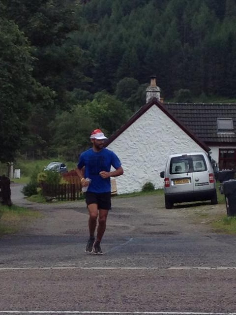 Arriving at Tyndrum in decent shape!