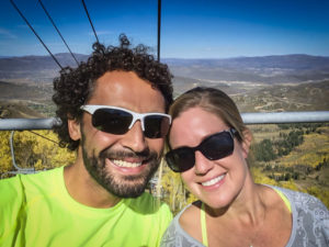 Riding the lift with Al after TNF 50 in Park City
