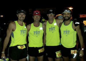 "PRT ""Mountain Division"" at Avalon 50. Mike, Rob, Steve and me. We'd all Top 10 this race, with fellow teammate Fern blazing into 2nd in his first ultra!"