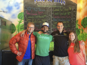 Met Big Sur marathon winner Adam Roach in the pub! Denis, me, Adam and his girlfriend